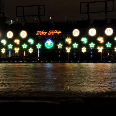 Fenway Park Winter light show!